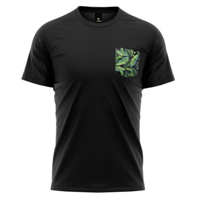 Camiseta Bolso Estampado - Nature