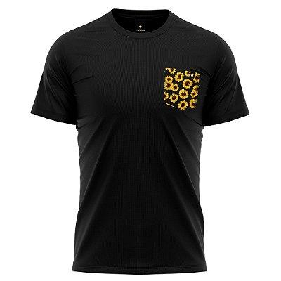 Camiseta Bolso Estampado - Sunflower