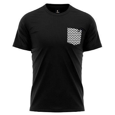 Camiseta Bolso Estampado - ZigZag