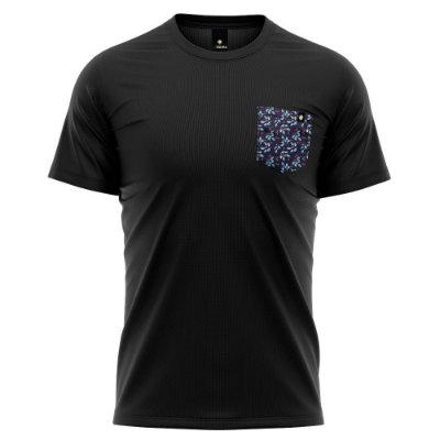 Camiseta Bolso Estampado - Blueberry