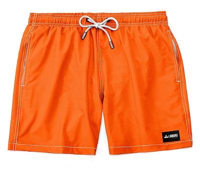 Shorts Praia Masculino Liso LaVibora - Laranja