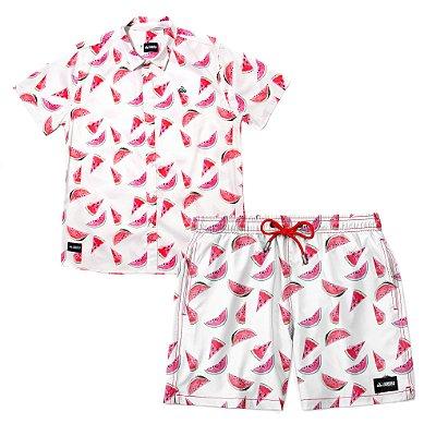 Conjunto Estampado Camisa & Shorts - Watermelon