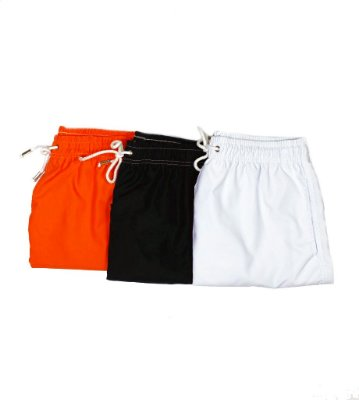 Kit 3 Summer Shorts Básicos - Neon, All Black & White