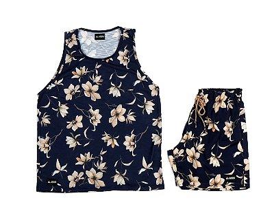 Conjunto Estampado Regata & Shorts - Sapphire