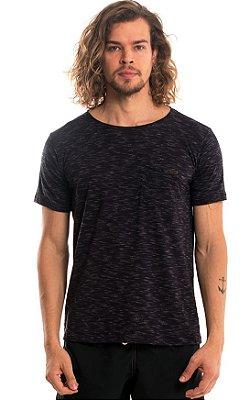 Camiseta Básica Algodão Mescla LaVíbora - Preto
