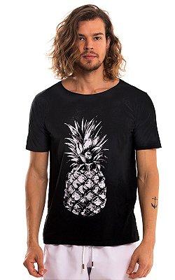 Camiseta Estampada Algodão 30.1 LaVíbora - Abacaxi
