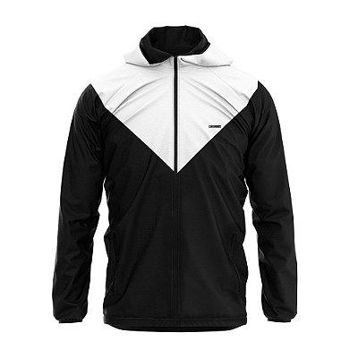 Jaqueta Corta Vento Masculina Estampada LaVíbora Preto e Branco