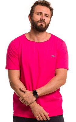 Camiseta Básica Corte A Fio 100% Algodão LaVíbora - Pink