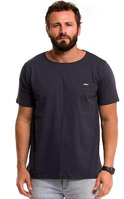 Camiseta Básica Corte A Fio 100% Algodão LaVíbora - Chumbo