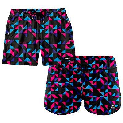 Shorts de Casal Praia Estampados LaVibora - Geometric