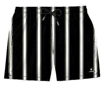 Shorts Praia Masculino Estampado LaVíbora - Listrado Tricolor