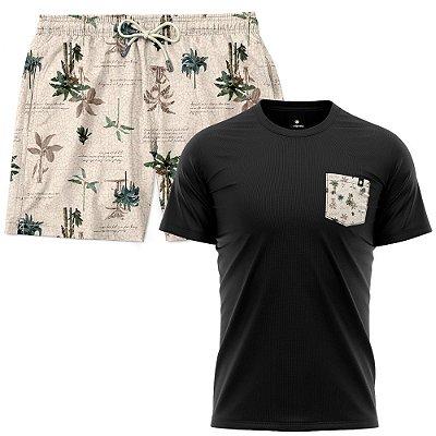 Kit Shorts Praia E Camiseta Bolso Estampado LaVibora - Litoral