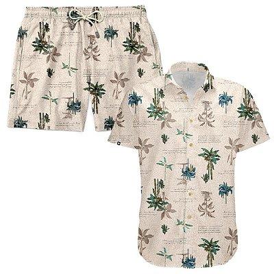 Kit Shorts Praia E Camisa Manga Curta Viscose LaVibora - Litoral