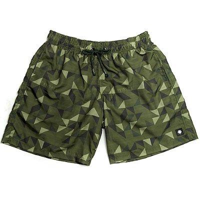 Shorts Praia Masculino Estampado LaVíbora - Green Geometric