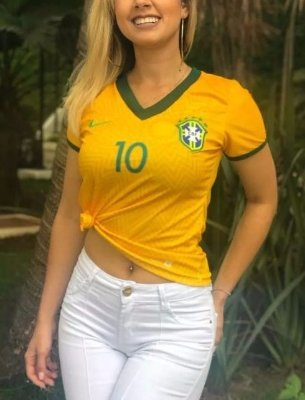 Camisa Babylook Brasil