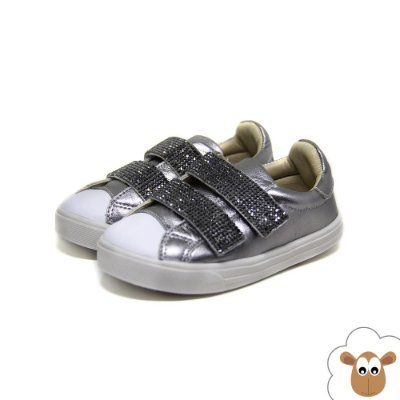 Tênis Infantil - Gambo - Prata velho - Velcro