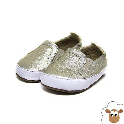 Tênis Iate Infantil - Gambo - Croco Ouro light