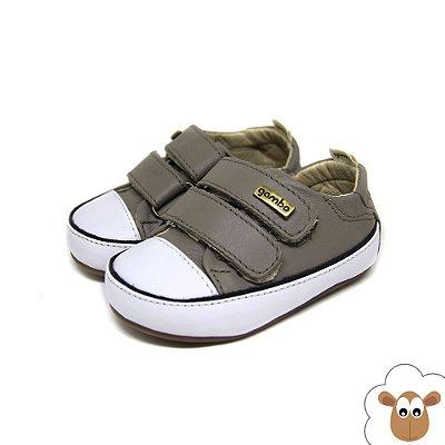 Tênis Infantil - Gambo - Cinza e preto - Velcro