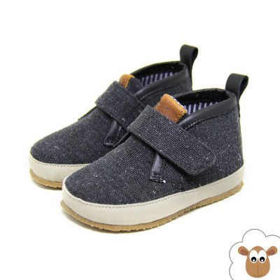 Bota Infantil Sheep Shoes Preta Velcro