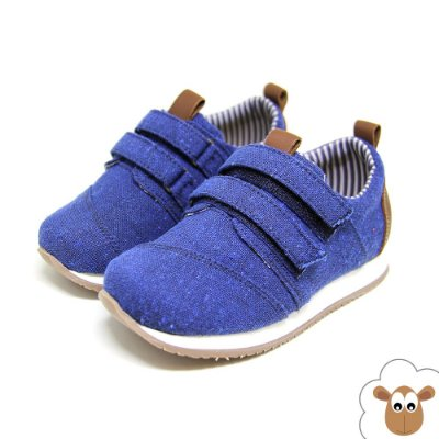 Tênis Infantil Jogging Sheep Shoes Azul Velcro