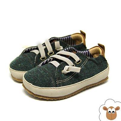 Tênis Infantil Sheep Shoes Cadarço Elástico Verde