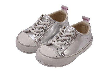 Tênis Infantil Catz Noddy Cadarço Specchio e Branco