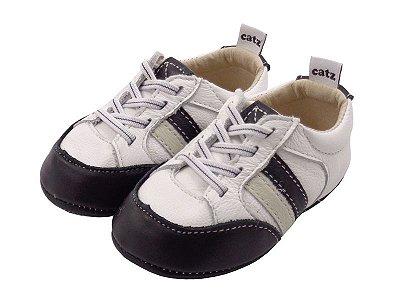 Sapatênis Infantil Catz Mike Branco e preto