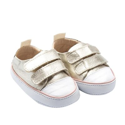 Tênis Infantil Sheep Shoes by Gambo Ouro light e rosa Newborn