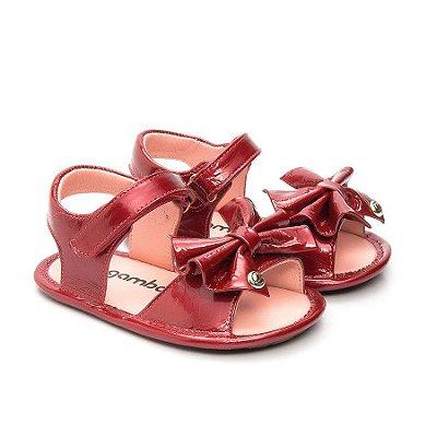 Sandália infantil Gambo Verniz Vermelho (Maçã do amor)