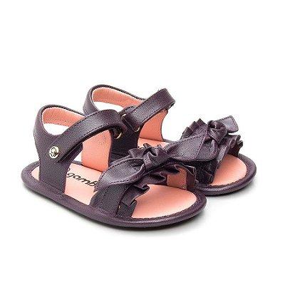 Sandália infantil Gambo Glíter Uva