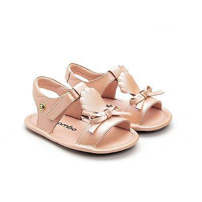 Sandália infantil Gambo Ouro Light e Blossom