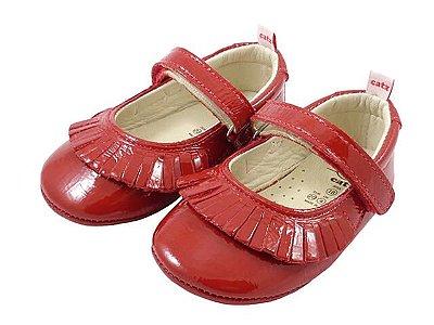 Sapatilha Infantil Catz Melany Vermelha Verniz