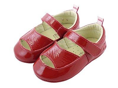Sapatilha Infantil Catz Moly Clean Vermelha Verniz