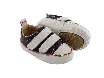 Tênis Infantil Catz Noddy Velcro Preto e Branco