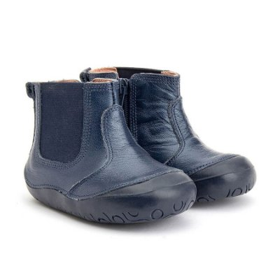 Bota Infantil Gambo New Step Ouro Light, Preta e Sky