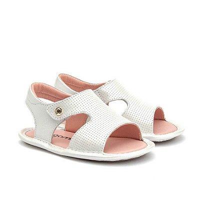 Sandália Infantil Gambo Baby Rosê e Branca