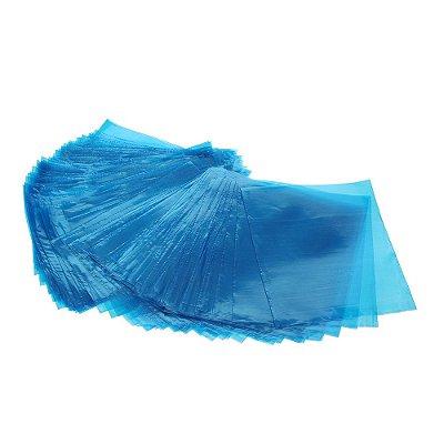 Plástico Protetor de Máquina Tex 14cm x 14cm - 100 Unidades - Azul
