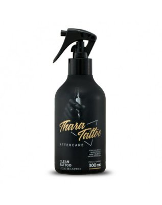 Clean Bactericida Limpeza Thara Tattoo 300ml com borrifador