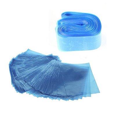 Plástico Protetor De Máquina E Clip Cord Azul