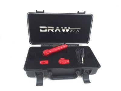 Draw Pen Vermelho - Case + RCA + 3 Gripps