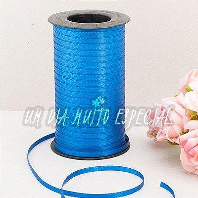 Fita de Cetim Face Dupla 4mm Azul Anil