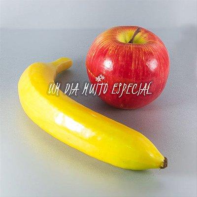 Kit 5 Maçãs + 5 Bananas Artificiais Tamanho Natural