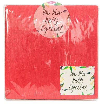 Papel Crepom para Bem-casado com Celofane 15cm Vermelho