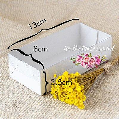 Caixa de Papel e Acetato Branca 13x8x3,5
