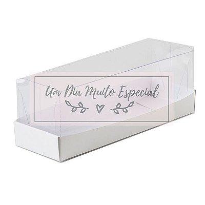 Caixa Papel e Acetato 13 x 4 x 4 Branca
