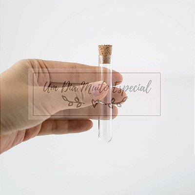 Tubo de Ensaio de Vidro com Rolha 7,5 x 1,2cm