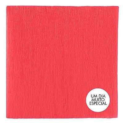 Papel Crepom com Celofane 15x15cm Vermelho