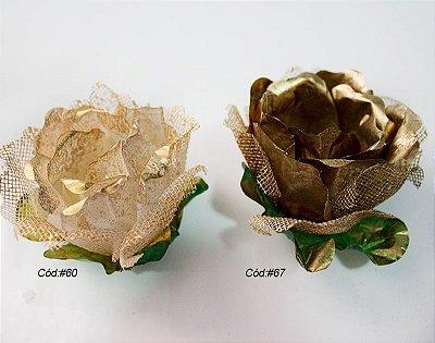 Gardênia c/ Tela Dourado e Bronze
