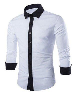 Camisas de tecido liso