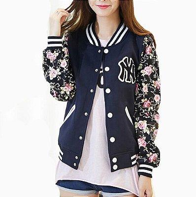 Jaqueta com estampa floral